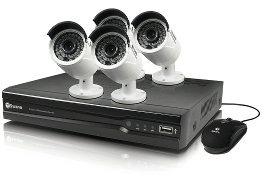 Swann 8 Channel NVR Kit with 4 x 4MP Bullet Cameras