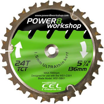 CEL POWER8 136mm 24T TCT Circular Saw Blade for CS01 (WS1-SB01)