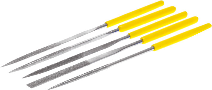 Photo of needle files 3mm diameter set.