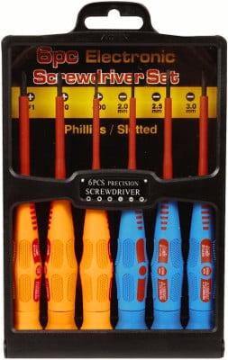 Precision Insulated Screwdriver Set 6-Piece