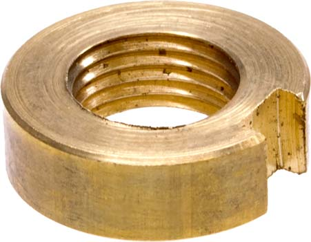 Photo of the top of a scope #10 ss brass nut.