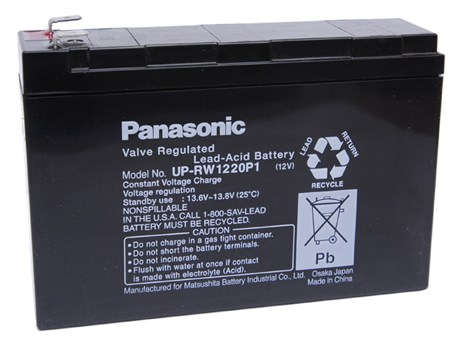 12V 4.2AH PANASONIC **UP-RW1220P1