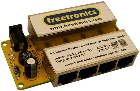 4-Ch PoE Midspan Injector by Freetronics