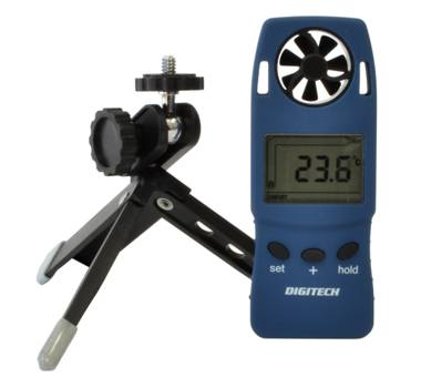 DIGITAL ANEMOMETER WITH TRIPOD STAND