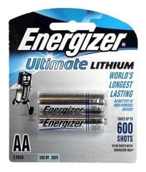 Energizer Lithium Batteries AA Pk2
