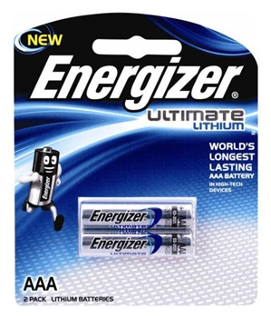 Energizer Lithium Batteries AAA Pk2