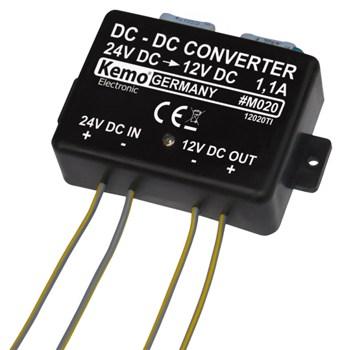 Kemo M020 DC/DC Reducer 24V - 12V 1.1A