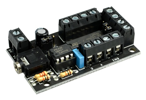 PICAXE-08 MOTOR DRIVE BOARD