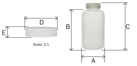 500ml Reagent Bottle Wide Mouth Polypropylene