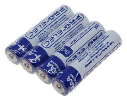 Pro-Elec Ultra Alkaline Batteries AAA - Pack of 4