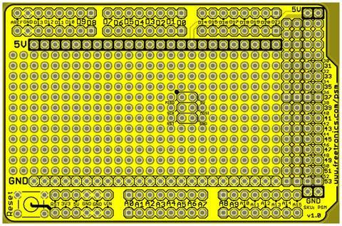 ProtoShield Mega for Arduino By Freetronics