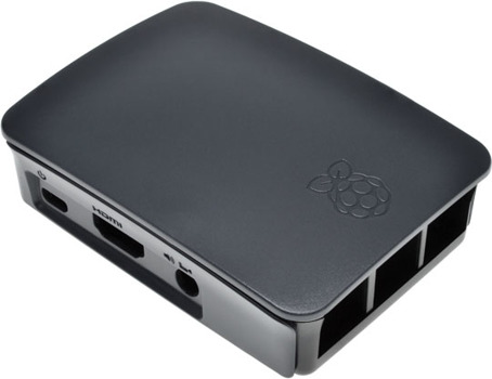 Raspberry Pi 2/3 Model B Black/Grey ABS Enclosure