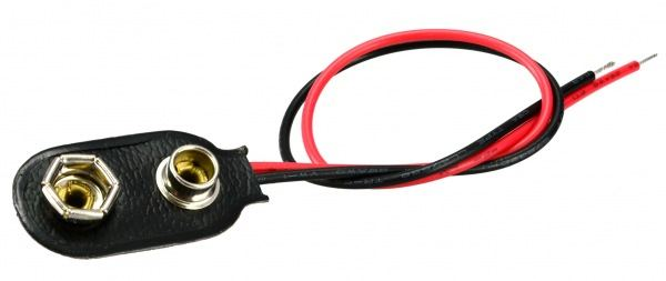 9V STANDARD BATTERY SNAP 150MM LEADS
