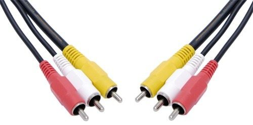 AUDIO VIDEO LEAD 3RCA-3RCA 5MTR