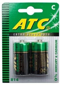 BATTERY EXTRA HEAVY DUTY ATC C - 2 PACK