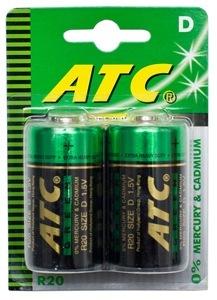 BATTERY EXTRA HEAVY DUTY ATC D - 2 PACK