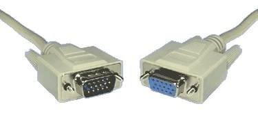 DB15 HIGH DENSITY VGA LEAD MALE TO FEMALE 2MTR