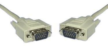 DB15 HIGH DENSITY VGA LEAD  MALE TO MALE 2MTR