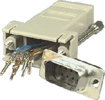 DB9 MALE TO RJ45 ADAPTOR