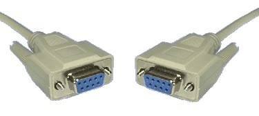 DB9F TO DB9F NULL MODEM CABLE 2MTR