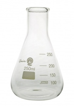 Erlenmeyer Flask 250ml Narrow Neck Graduated GG17 Borosilicate