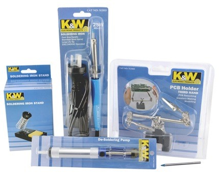 K&W Soldering Iron, Third Hand, Solder Sucker and Stand Kit