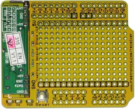 Receiver Shield for Arduino: 433MHz by Freetronics