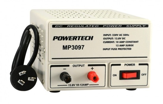 REGULATED POWER SUPPLY 13.8VDC 10AMP