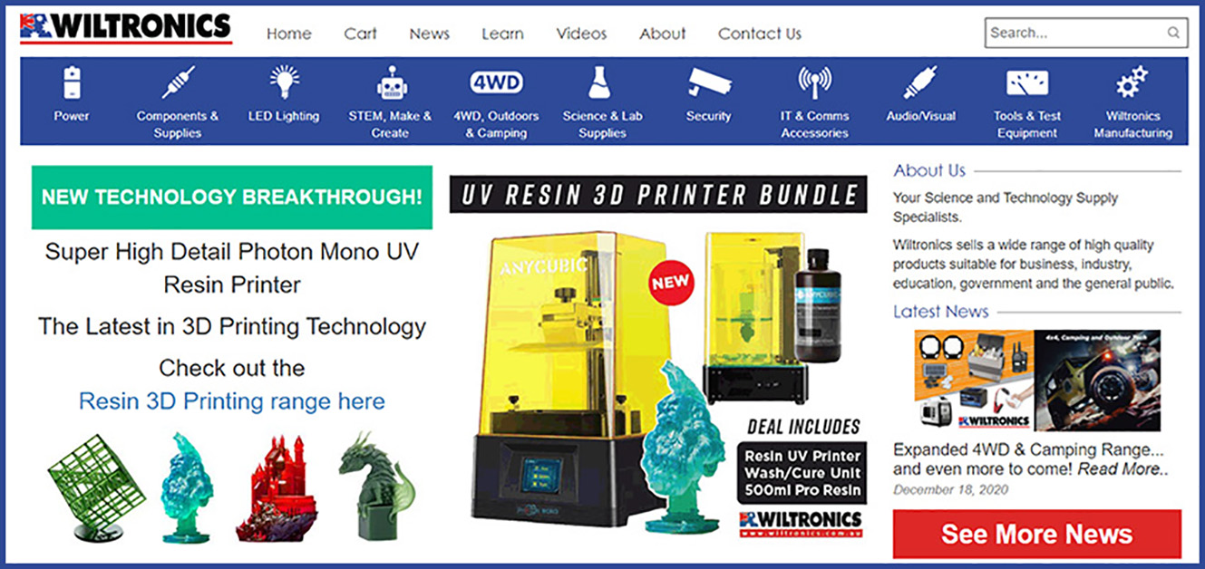 Wiltronics - Secure Online Store and Website